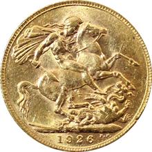 Zlatý Sovereign Král Jiří V. 1911 - 1932