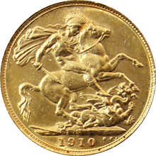 Zlatý Sovereign Král Eduard VII. 1902 - 1910 M,P,S