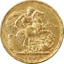 Zlatý Sovereign Královna Viktorie 1887 - 1893 M,S