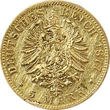 Zlatá mince 5 Marka Vilém I. Pruský 1877