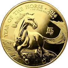 Zlatá investiční mince Rok Koně Lunární The Royal Mint 1 Oz 2014