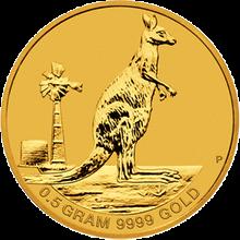 Zlatá investiční mince Kangaroo Klokan 0.5g Miniatura 2012