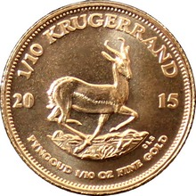 Zlata investiční mince Krugerrand 1/10 Oz
