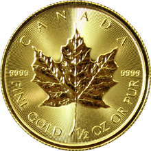 Zlatá investičná minca Maple Leaf 1/2 Oz