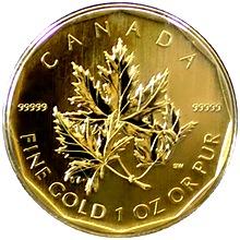 Zlatá investiční mince Maple Leaf 1 Oz 2007 (.99999)