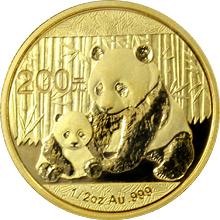 Zlatá investiční mince Panda 1/2 Oz 2012