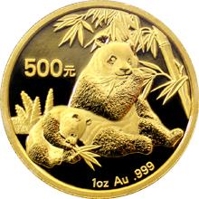 Zlatá investiční mince Panda 1 Oz 2007