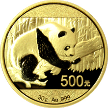 Zlatá investičná minca Panda 30g 2016