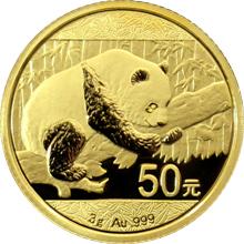 Zlatá investiční mince Panda 3g 2016