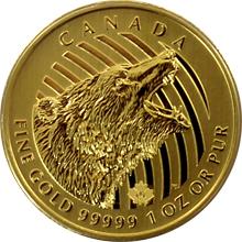 Zlatá investičná minca Roaring Grizzly 1 Oz 2016 (.99999)