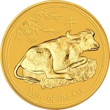 Zlatá investiční mince Year of the Ox Rok Buvola Lunární 1 Kg 2009