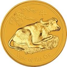Zlatá investiční mince Year of the Ox Rok Buvola Lunární 2 Oz 2009