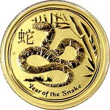 Zlatá investiční mince Year of the Snake Rok Hada Lunární 1/10 Oz 2013
