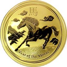 Zlatá investiční mince Year of the Horse Rok Koně Lunární 10 Oz 2014