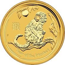 Zlatá investiční mince Year of the Monkey Rok Opice Lunární 1 Kg 2016