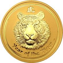 Zlatá investiční mince Year of the Tiger Rok Tygra Lunární 2 Oz 2010