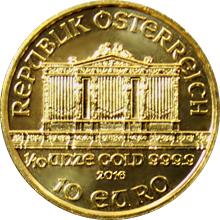 Zlatá investiční minca Wiener Philharmoniker 1/10 Oz