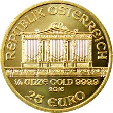 Zlatá investiční minca Wiener Philharmoniker 1/4 Oz