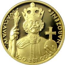 Zlatá uncová medaile 650 let od narození Vaclava IV. 2011 Proof