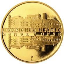 Zlatá čtvrtuncová medaile Zámek Jindřichův Hradec 2013 Proof