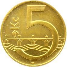 Zlatá medaile 5 Kč Kutná Hora 1996 Standard