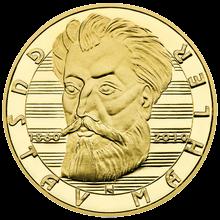 Gustav Mahler Zlatá půluncová medaile 2010 Proof