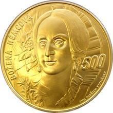 Zlatá investiční medaile 1 Kg Božena Němcová Motiv 500 Kč bankovky 2013 Standard