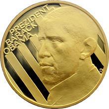 Zlatá uncová medaile Barack Obama 2009 1 Oz Proof