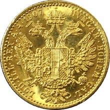 Zlatá mince Dukát Františka Josefa I. 1907