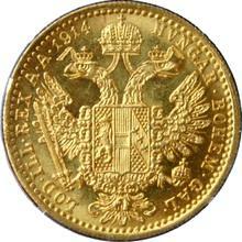 Zlatá mince Dukát Františka Josefa I. 1914
