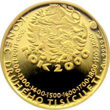 Zlatá medaile K uvítání roku 2000 Proof