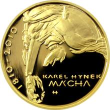 Zlatá uncová medaile Karel Hynek Mácha 2010 Proof