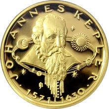 Zlatá půluncová medaile Dva první Keplerovy zákony 2009 Proof