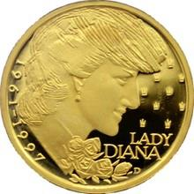 Zlatá medaile Lady Diana 1997 Proof