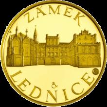 Zlatá čtvrtuncová medaile Zámek Lednice 2011 Proof