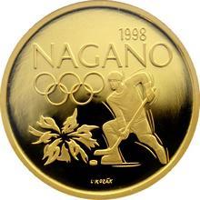 Zlatá medaile Nagano 1998 Proof
