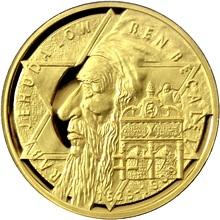 Zlatá půluncová medaile Rabí Jehuda Löw ben Becalel 2009 Proof
