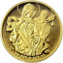 Zlatá půluncová medaile Sestrojení Staroměstského orloje 2010 Proof