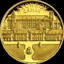 Zámek Sychrov Zlatá uncová medaile 2011 Proof