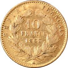 Zlatá mince 10 Frank Napoleon III. 1863 A