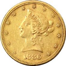 Zlatá mince 10 Dolar American Eagle Liberty Head 1886