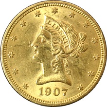Zlatá mince 10 Dolar American Eagle Liberty Head 1907