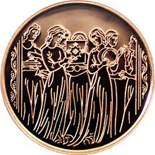 Zlatá mince Miriam a ženy 10 NIS Izrael Biblické umění 1996 Proof