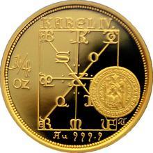 Zlatá mince 2500 Kč KAREL IV. Právní dokumenty 1998 - 1999 Proof