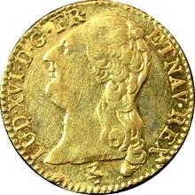 Zlatá mince 1 Louis d'Or Ludvík XVI. 1787 A