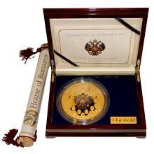 Zlatá mince 1 Kg 400 let dynastie Romanovců 2013 Proof