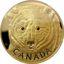 Zlatá minca 1 Kg Očami kermodského medveďa 2016 Proof