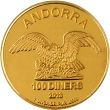 Zlatá investiční mince Andorra Eagle 1 Oz
