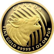 Zlatá minca Howling Wolf 1 Oz 2014 Proof (.99999)