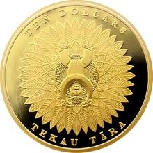 Zlatá minca Papatuanuku a Ranginui Maori Art 1 Oz 2014 Proof